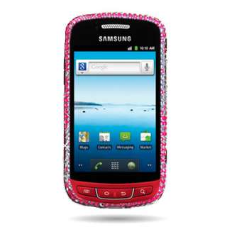 Samsung Admire R720 Pink Silver Bling Diamond Faceplate Cover Case