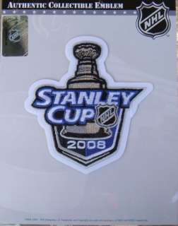 NHL Patch Stanley Cup Final 2008 Penguins   Red Wings