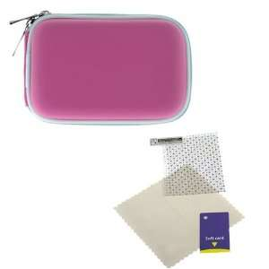 GTMax Hot Pink Zipper Eva Pouch Carrying Case + Universal