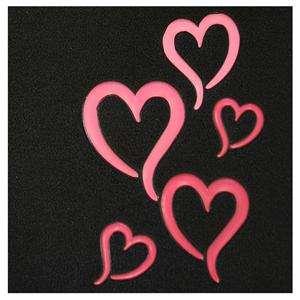 Universal Pink Red Heart Design Car Truck Floor Mats