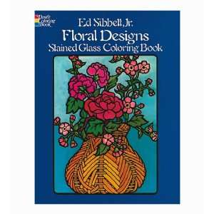 Dover Stained Glass Coloring Book Floral Arts, Crafts