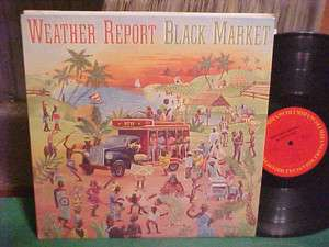 BLACK MARKET LP WEATHER REPORT STEREO COVER ART SHORTER ACUNA