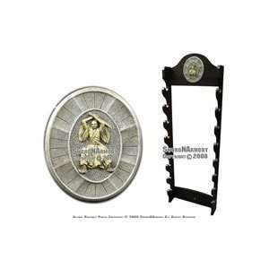 Tier Wall Mounted Sword Display Stand With Word