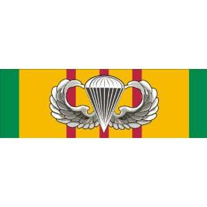US Army Vietnam Service Ribbon with Jump Wings Badge Sticker Decal 9